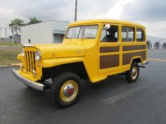 1952 Jeep Wagon, Automatic, engine swap for a Chevy 350 cid, real wood accent panels, asking is $16,900 **Lottery car?** @Topher Martini @Susie Martini