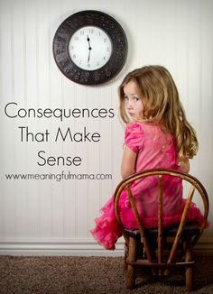 "Sometimes we get too soft in our parenting. We want the best for our children, and we sometimes don't realize that the best for our child doesn't always look very pretty. These are called ""consequences."" Today I wanted to talk about consequences that make sense for kids. It's our struggles and our consequences that make us learn and become stronger and more apt to make right decisions. If we don't… <a ..."