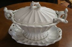 Early Vintage Victorian Red Cliff White Ironstone Antique