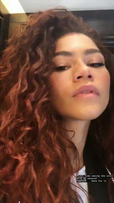 Zendaya - New Site Zendaya Red Hair, Zendaya Style, Natural Braided Hairstyles, Permed Hairstyles, Zendaya Hairstyles, Curly Hair Up, Curly Hair Styles, Estilo Zendaya, Red Hair Inspo