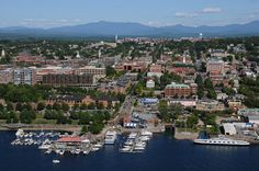 Burlington, Vermont on Lake Champlain. Burlington Vermont, Vacation List, Destinations, New England States, Lake Champlain, Mountain States, New Hampshire, Weekend Getaways, Day Trips