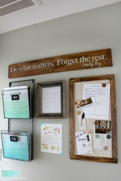 Don't let paper overrun your life!! How to Tame the Paper Clutter: Industrial Farmhouse Command Center | http://TheTurquoiseHome.com
