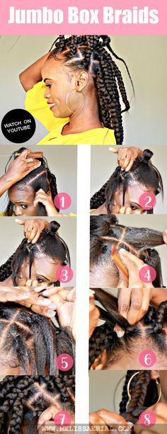 Try these jumbo box braids on your hair as a protective style.