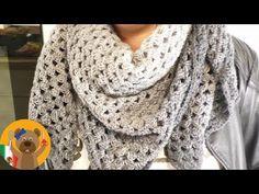 Crochet chal XXL|Hermoso chal triangular con una madeja de lana|Rico Design lana en degradé - YouTube