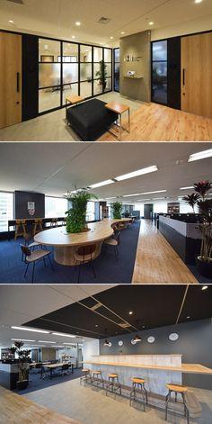 自然にコミュニケーションが生まれるインタラクティブパークオフィス|デザイナーズオフィスのヴィス Cafe Interior, Office Interior Design, Office Interiors, Room Interior, Public Hotel, Smart Office, Coworking Space, Architecture, Modern