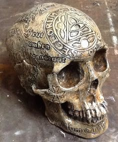 Zane Wylie Carved Skull Replica - Templar Knight