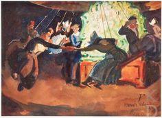 Willy Sluiter Kermis Volendam: in de zweefmolen, 1922  Ede, kunsthandel Simonis & Buunk #NoordHolland #Volendam