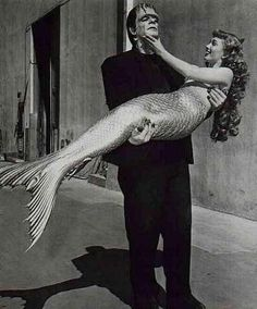 True love knows no difference in species  ♡ #monsters & #mermaids ♡♡I love sardines ,hahaha.just kidding