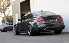 Mineral Gray BMW F80 M3 With Spacers Installed | BMW | M3 | M series | F80 | custom BMW | custom cars
