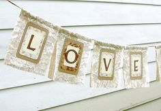 Burlap and lace banner...perfect