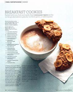 Magazine layout, Martha Stewart Breakfast Cookies
