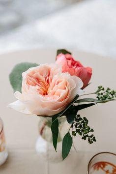 sweet garden rose centerpiece   Dana Cubbage #wedding
