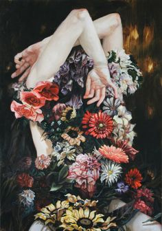 ⊰ Posing with Posies ⊱ paintings & illustrations of women & children with flowers - Meghan Howland