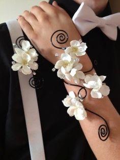 gardenia corsage and boutonniere - Google Search