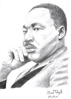 Martin Luther King Jr By Ylli Haruni Pencil Portrait Un