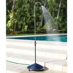 The 86 Degree Solar Heated Outdoor Shower - Hammacher Schlemmer