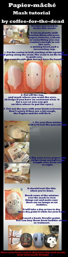 Papier Mache Mask Tutorial by coffee-for-the-dead