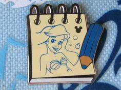 Disney Trading Pin - Hidden Mickey 2014 Wave A Sketch Pads Ariel Mermaid - 99887