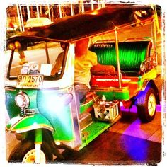 #funky #disco #tuktuk #night #Bangkok #Thailand The only way to get around the city with the breeze in your hair