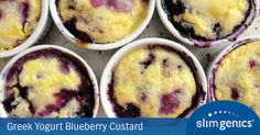 Fighting a craving? Try this #delicious and #healthy Greek Yogurt Blueberry Custard #recipe