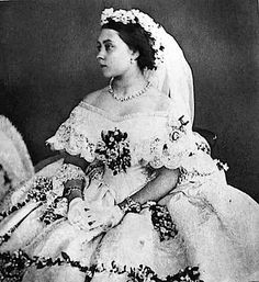 Victoria, Princess Royal in her wedding dress.