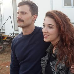 Jamie Dornan Life: New Picture of Jamie and Actress Amy Louise Wilson from 'Jadotville' Set :: how I have missed his face