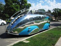 """Early Motor Homes """"The Road Boat"""" airstream Old Campers, Vintage Campers Trailers, Camper Trailers, Airstream, Automobile, Vintage Rv, Unique Cars, Fire Engine, Rat Rods"""