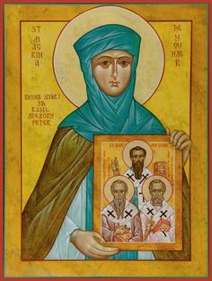 19 July - Feast Day - St Macrina the Younger was the granddaughter of Macrina the Elder and sister of St. Basil, St. Gregory of Nyssa, and St. Peter of Sebastea. She was well educated, especially in scripture.On the death of her father, she and her mother retired to the family estate in Pontus and lived a life of prayer and contemplation in a community they formed there.