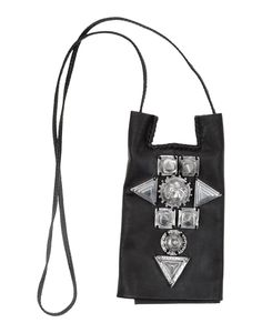 Ktz studded leather  bag with hidden wallet and phone holder