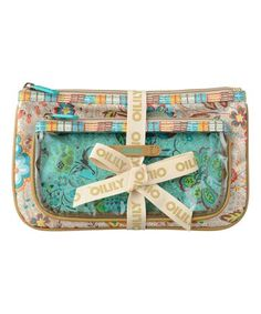 Look what I found on #zulily! Brown Floral Large Cosmetic Bag #zulilyfinds