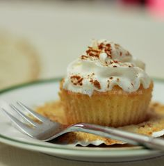 Tres leches literally translates to three milks. The cupcakes (traditionally, a whole cake) are baked then soaked in a mixture of evaporated milk, sweetened condensed milk and cream. Can you imagin…