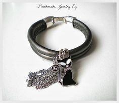 Handmade Jewelry Rg: Bracelet Dark Cat
