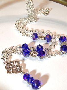 Celtic Necklace With Purple Multicolor by MURPHYSTREASURES2, $24.00