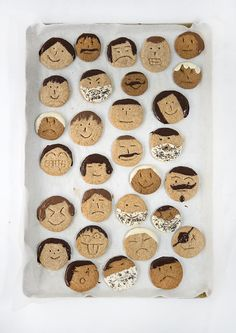 Father's Day cookies that look like dad! http://asubtlerevelry.com/creative-fathers-day-ideas