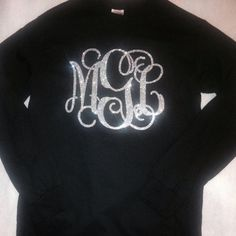 "$8 for 8"" Glitter Monogram Iron On Monogram Iron On by IHeartHoundstooth"