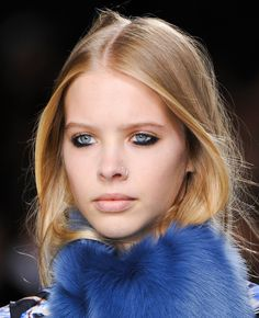 Topshop Unique Turns To Margot Tenenbaum For Inspiration: Topshop Unique's beauty look had a rebellious edge this season, taking inspiration from Gwyneth Paltrow in The Royal Tenenbaums, with the main makeup focus being the lower lid.