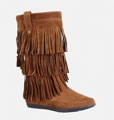 Add trendy style to your footwear with the wide width Marley Fringe Midi Boot… Trendy Fashion, Plus Size Fashion, Fashion Outfits, Trendy Style, Cognac Boots, Fringe Boots, All About Shoes, Wedge Boots, Ankle Boots