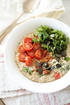 Red Pesto and Kale Porridge