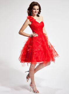 Homecoming Dresses - $129.99 - A-Line/Princess One-Shoulder Knee-Length Organza Homecoming Dress With Ruffle Flower(s) (002024406) http://jjshouse.com/A-Line-Princess-One-Shoulder-Knee-Length-Organza-Homecoming-Dress-With-Ruffle-Flower-S-002024406-g24406?snsref=pt&utm_content=pt