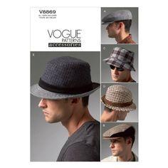 Los sombreros de los hombres de Vogue - todos los tamaños en un modelo del sobre McCall Pattern https://www.amazon.com.mx/dp/B00AXUVPUG/ref=cm_sw_r_pi_dp_E8e2wbG45N26Q