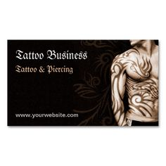 Modern tattoo business card template this design is available for tattoo artist salon business card cheaphphosting Image collections