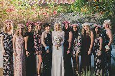 dark autumn bridesmaids   via: green wedding shoes