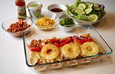 sofiessmil ⭐️Proteinrike Lomper •Speltlomper •Kyllingfiletkjøttdeig *her 2pakker •Hermetiske Tomater *evt + tomatpuré •Fajitaskrydder •Gratinert i ovnen m lettere Ost, Rødløk,Mais,Paprika,Annanas & Krydder •Serverer med «grønne saker», Lett Drømmesmak, Sweetchilli/Salsa/Barbecue. Enkelt✔️Godt✔️Sunt✔️ ~Passer når som helst, og definitivt ett godt alternativ til Grandisen: disse kommer på bordet like fort~ *synes også disse er super i lunsjboksen, da m feks Avocado og spinat på siden. 🌯😋… Alternative