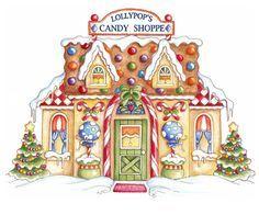 Christmas Scenes, Christmas Villages, Christmas Colors, Christmas Art, All Things Christmas, Vintage Christmas, Christmas Holidays, Christmas Candy, Christmas Graphics