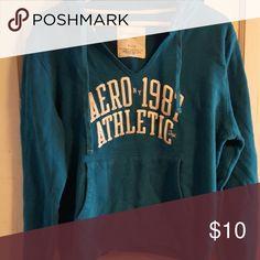 Aeropostale hoodie xl Teal blue Aero hoodie, only worn a couple of times. Aeropostale Tops Sweatshirts & Hoodies