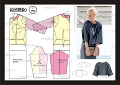 Modelagem de blusa larguinha. Fonte: https://www.facebook.com/photo.php?fbid=563566250345951=a.426468314055746.87238.422942631074981=1
