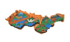 Czechoslovakia - handmade jigsaw puzzle made of pin oak with typical animals