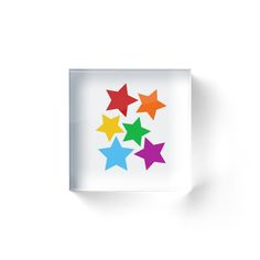 rainbow stars by IdeasForArtists