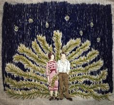 turecepcja:  Embroideries that look like paintings byMichelle...