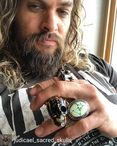 """@Regranned from @judicael_sacred_skulls - One of the coolest men out there, Jason Momoa @prideofgypsies .I feel blessed For such a great synchronicity . Years of hard work, visualization, manifestation … never give up! …Dream your dream. """"The Dweller..."""